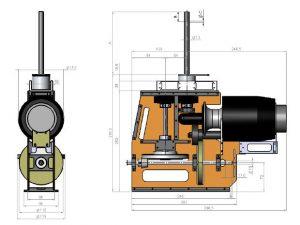 HF3-3 kurz Mechanik für PRO Turbinen 1